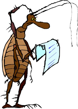 Cockroach reading