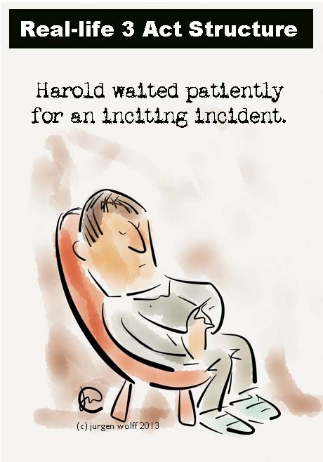 Inciting incident cartoon
