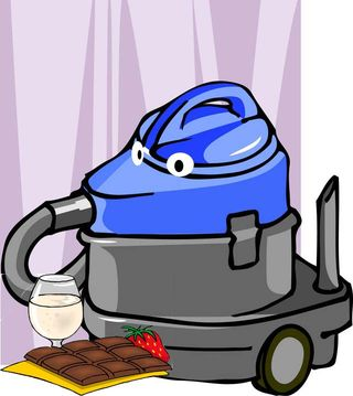 Vaccuum cleaner and chocolate