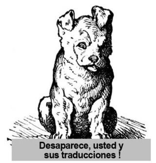 Dog spanish copy