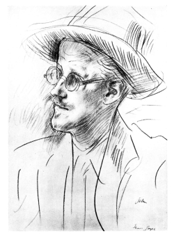 James joyce pencil sketch by john