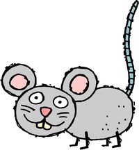 Graphic cartoon mouse