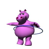 Hippo with hula hoom
