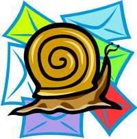 Graphic snail letters