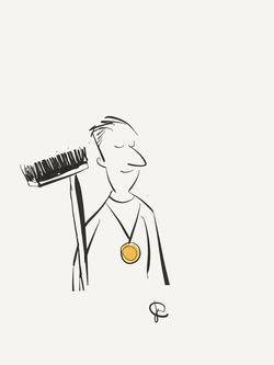 Graphic my toon gold medal janitor maintenance