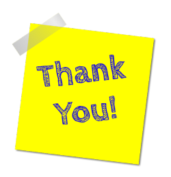 Graphic thank you sticky note