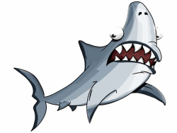 Graphic shark cartoon