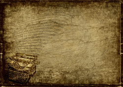 Graphic old typewriter on brown grunge background-3224765_640