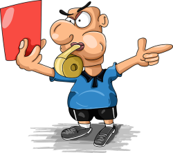 Graphic cartoon football judge red card-3556460_640