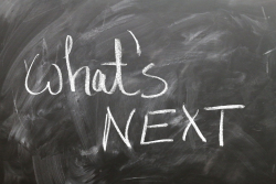 Graphic What's Next? on chalk board-1647323_1280