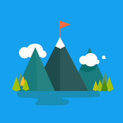 Graphic flat color mountain-4694346_1280